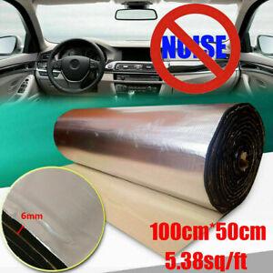 100*50cm mousse acoustique voiture auto-adhésif insonorisation isolation 6mm