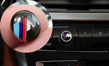 12mm Car Radio button emblem Sticker Badge Decals Decoration M Logo Fit For BMW