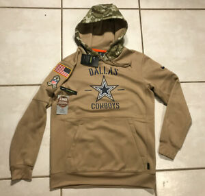 NWT NIKE Dallas Cowboys SALUTE TO SERVICE 2019 NFL Pullover Hoodie Men's Medium