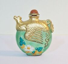 Vintage Figural Bat Snuff Bottle with Gold Paint and Enamel - Chinese - unique