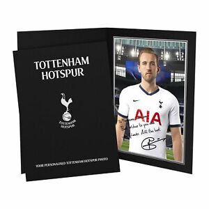 PERSONALISED Tottenham Hotspur Spurs Gifts Kane Autograph Photo Folder Official