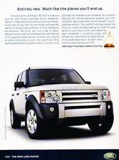 2005 Land Rover LR3 Award of Year Original Advertisement Print Art Car Ad J935
