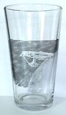 STAR TREK Starship Enterprise pint size BEER GLASS