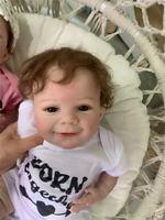 22inch Realistic Reborn Baby Doll Boy Lifelike Newborn Soft Silicone Baby Dolls