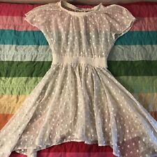 Anthropologie Leifnotes Size 0 Ivory Gold Sequin Dot Gleam Dress No Slip A208