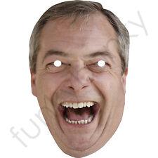 Nigel Farage - UKIP Leader.  Politician Card Mask - All Our Masks Are Pre-Cut!