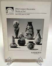 Sotheby's June 1990 Auction Catalog 20th Century Decorative Works Of Art 1322