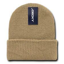 Khaki Tan GI Watch Cap Beanie Hat Ski Military Winter Cuff Knit Hats Beanies