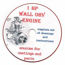 Elmer Wall 1HP cycle gas engine build yourself 1950 CD-ROM PDF file