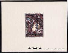 épreuve de luxe timbre France  tableau  vitrail de Chartres   1963 num: 1399