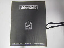VINTAGE SINCE 1920 BARBEE COMPANY RADIATOR EQUIPMENT & SUPPLIES MANUAL