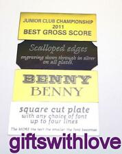 Engraved name plate plaque trophy 70mm x 40mm