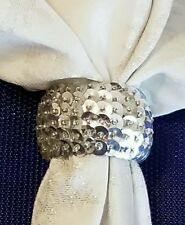 Set of 4  Silver Sequin Napkin Rings  *NEW*