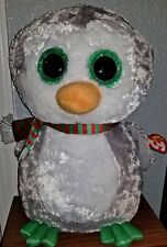 """Chilly Ty Beanie Boos Buddy LARGE 17"""" - 2017 Christmas Penguin - MWMT"""