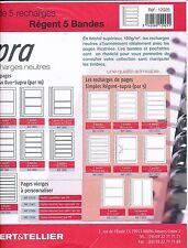 5 Recharges pages simples Régent-Supra 5 Bandes Ref.12925