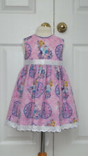 NEW HAND CRAFTED PINK CINDERELLA SUMMER SUN DRESS 2 YEARS ROMANY TRADITIONAL