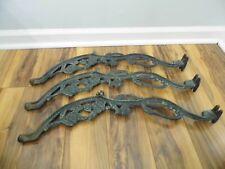3 Vintage Cast Iron Rose Design Table Legs