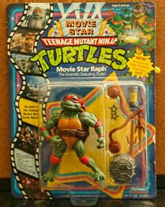 1991 TMNT Series 4 Movie Star Matinee Idol Raphael UNPUNCHED UNOPENED NEAR MINT