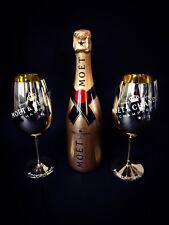 Moet Chandon Impérial Gold Champagner 0,75l Flasche 12% Vol + 2 Gold Glas Gläser