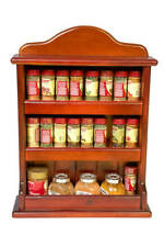 Spice Rack - Wooden - Crown - 3 Tiers - 24 Herb and Spice Jars
