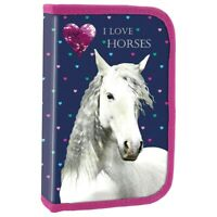 I Love Horses Kinder Geldbeutel Pferde Portmonnaie Geldb/örse Pferd
