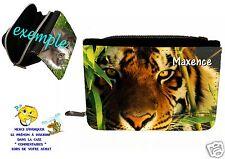 portefeuille tigre  personnalisable avec prénom réf 28