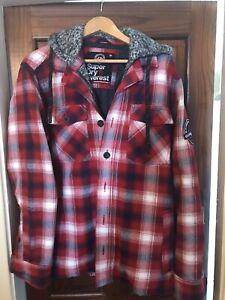 Superdry Everest XL Hooded Check Mens Jacket