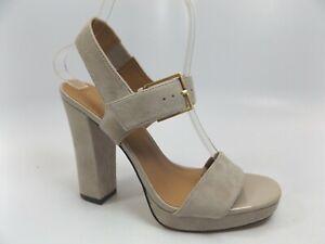 Calvin Klein Bette Womens SZ 10.0 M CLAY Kid Suede Heel Dress Sandals,  11301