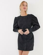 & Other Stories Puff Sleeve Denim Dress With Belt