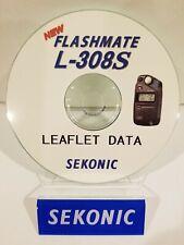 "SEKONIC L-308S light meter ""LEAFLET DATA"" CD (ORIGINAL PRINT JAPAN)"