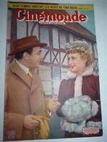 Lot N°78 de 6 magazines revues CINEMONDE année 1950