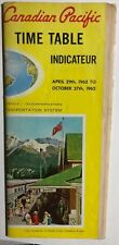 CANADIAN PACIFIC RAILWAY Time Table April 29, 1962