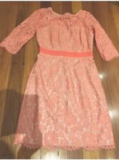 Review Lace Dress Size 10 Pink Orange Good Condition Penny5 For 5% Off