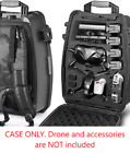 Backpack For DJI FPV Drone Waterproof Hard Shell Fits Batteries Goggles Cables