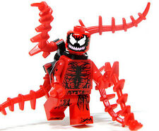 Carnage minifigure custom toy  Movie Spider Man villain cartoon comic figure