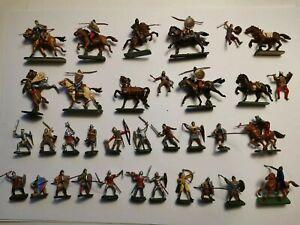 Lot soldats moyen âge normands peints esci italeri antiquité figurines 1/72