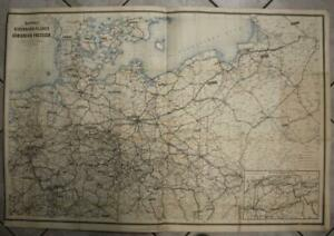 POLAND LITHUANIA GERMANY 1878 SCHWABE LARGE ANTIQUE LITHOGRAPHIC MAP IN 2 SHEETS