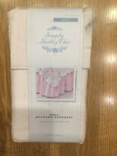 Simply Shabby Chic Pink Ruffle Bedskirt Dust Ruffle King new