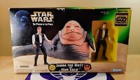 STAR WARS POWER OF THE FORCE JABBA THE HUTT AND HAN SOLO KENNER NEW SEALED