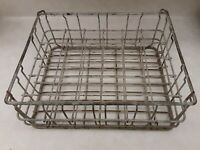 """Dairy Milk Testing Glass Bottle Wire Mesh Vintage Crate for 2-3/8"""" Diameter"""