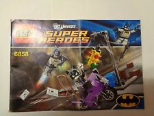 LEGO Instruction Notice Super Heroes Catwoman Catcycle City Chase (6858)