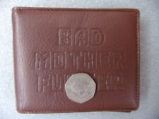 Bad Mother F**ker Wallet - Similar to Pulp Fiction Wallet - Brown Leather