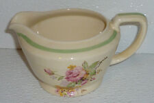Wood's Creamer Ivory Ware PICARDY ROSE Wood and Sons Woods Vtg England