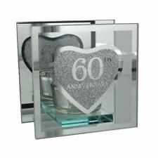 60th Diamond Wedding Anniversary Tea Light Holder Gift WG56060
