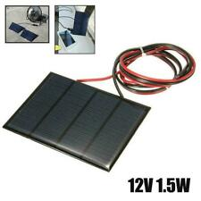 1.5W 12V Mini Power Solar Panel Small Cell Phone Module Charger DIY W/ Wire V2C1