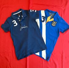 Boys Joules Polo Tops T-shirts Bundle Age 11-12 Blue VGC