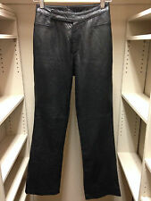 JOHN CARLISE Genuine Leather Pants Black Plush Size 2