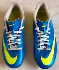 MENS NIKE MERCURIAL VAPOUR FOOTBALL BOOTS UK 7 - L@@K - BLUE/YELLOW