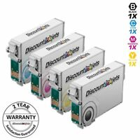 4 Black & Color 125  T1251 Reman Ink Cartridge for Epson Stylus NX420 NX125