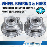 Pair Fits Toyota Hilux GGN25R KUN26R Front Hub Wheel Bearing Hubs Assembly 05-15